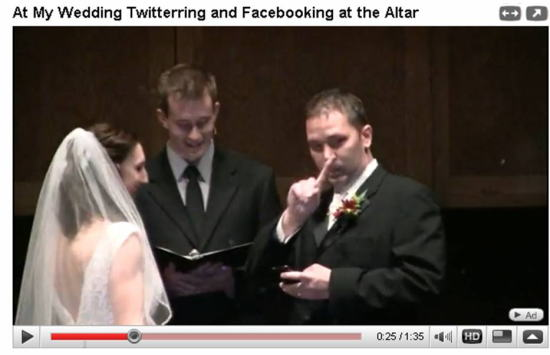 WeddingTwitterringandFacebooking