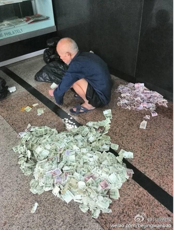 衝撃】中国の「プロの物乞い」は1カ月で18万円以上儲けるらしい / 繁忙 ...