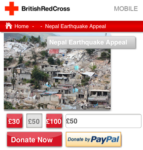DONATE British Red Cross
