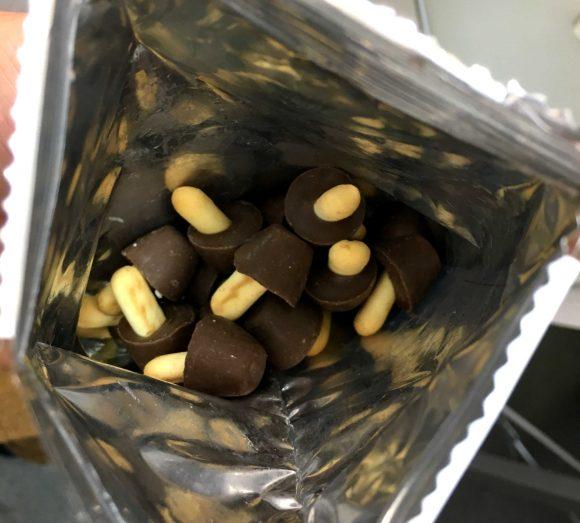 きのこたけのこ チョコの量