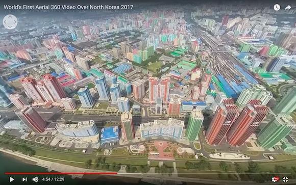 実を言うと北朝鮮は栄えていた!? 上空から平壌を撮影した360度映像が ...