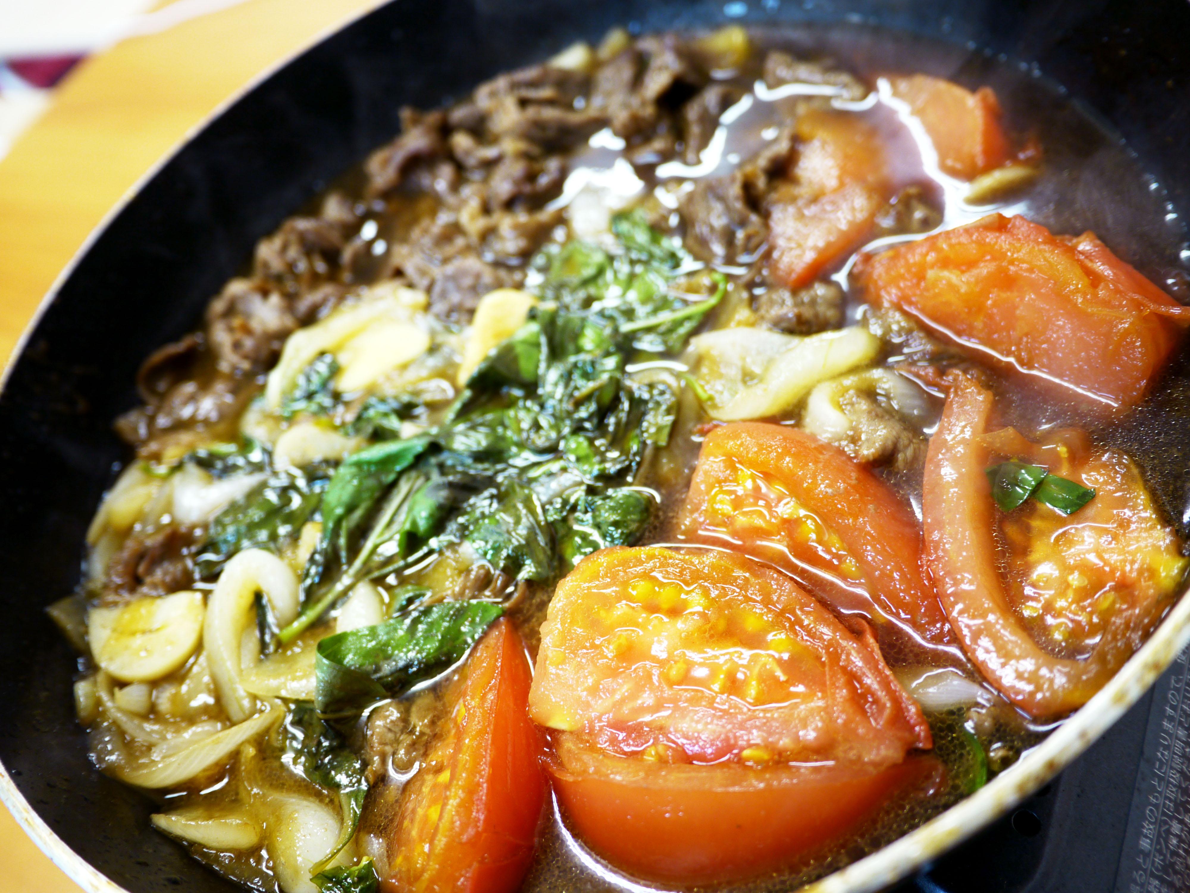 すき焼き レシピ トマト
