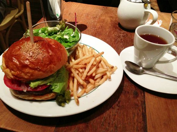 The popular burger lunch