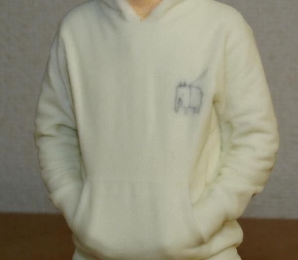 mini sato's sweater detail