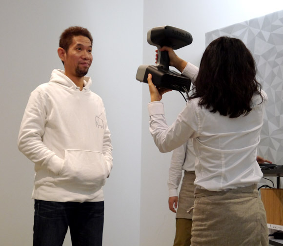 Mr Sato being scanned