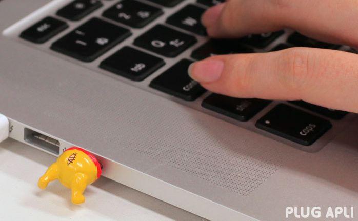 disney plugs laptop