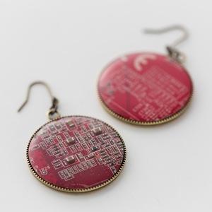 Geek & Cute Accessories Circuit Board Earrings 15,750 yen