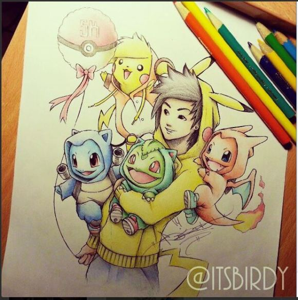 Pokehoodie itsbirdy with pals