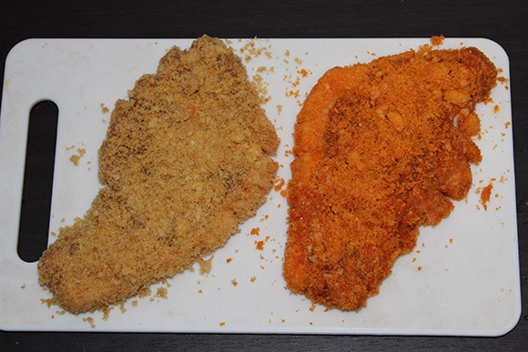 umaibou covered in place of breadcrumbs