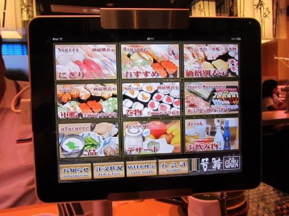 sushi touch screen