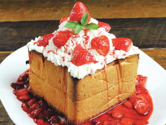 Strawberry toast tower from Okinawa... mmmm.