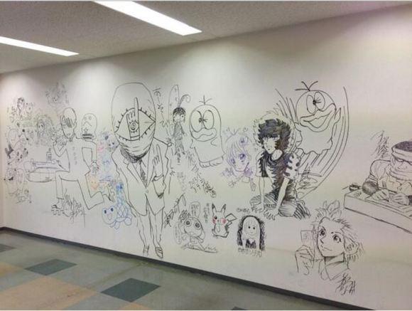 Manga graffiti at soon-to-be demolished Shogakukan building in Japan10