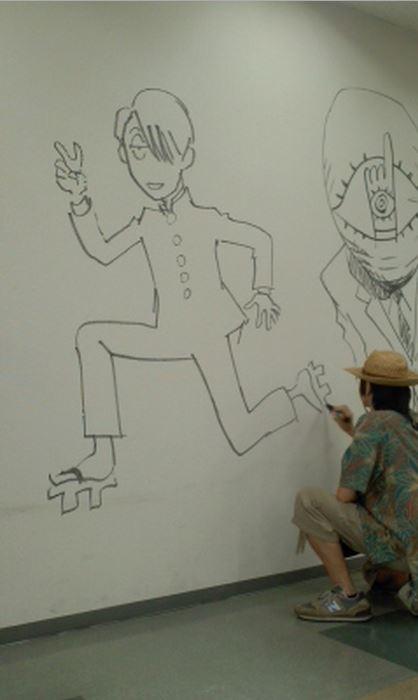 Manga graffiti at soon-to-be demolished Shogakukan building in Japan20