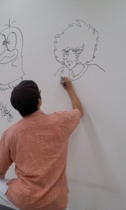 Manga graffiti at soon-to-be demolished Shogakukan building in Japan21