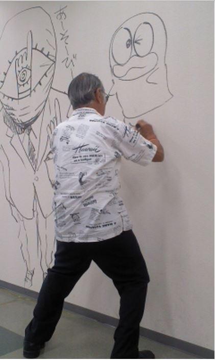 Manga graffiti at soon-to-be demolished Shogakukan building in Japan22