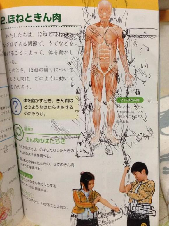 textbook doodles from Japan19