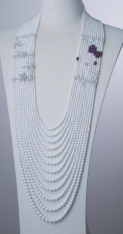 Kitty x Mikimoto necklace
