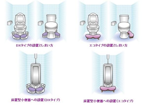天使のひざ枕 快適・らいふ研究所 飛び散りを防ぐトイレの新スタイル(3)