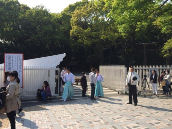 Meji Shrine closed