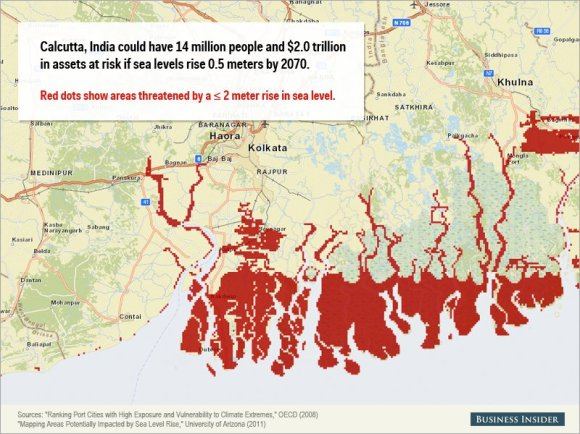 Rising sea levels could cause staggering damage to these cities