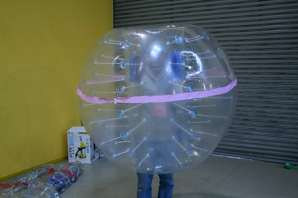 We try %22Bubble Soccer%225