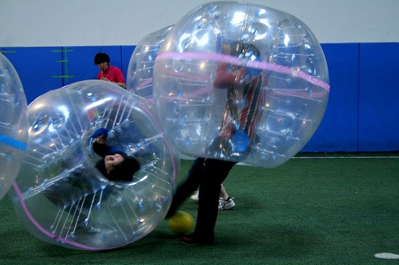 We try %22Bubble Soccer%226