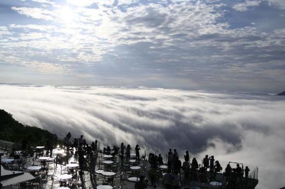 unkai cloud formation like waterfall
