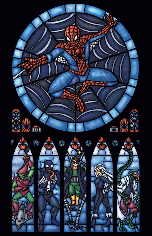 glass spiderman