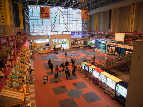 Gala Yuzawa train station and ski resort, Niigata, center Cowabunga