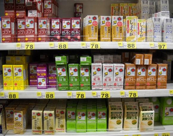 soy milk display