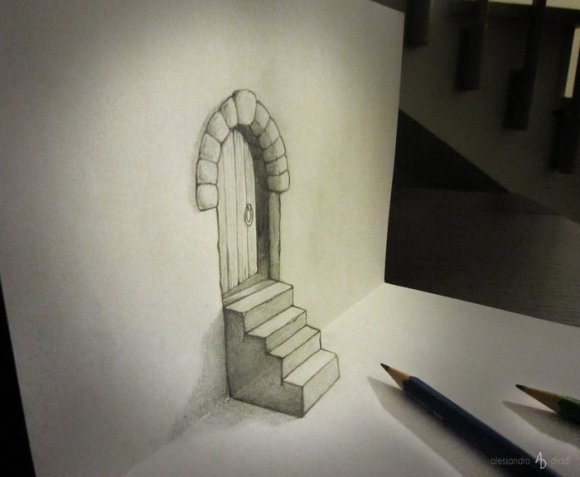 19 pencil drawings that trick your mind into thinking they're 3-D