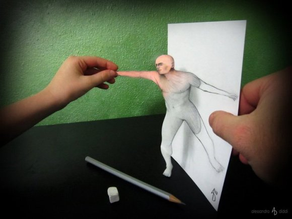 19 pencil drawings that trick your mind into thinking they're 3-D12