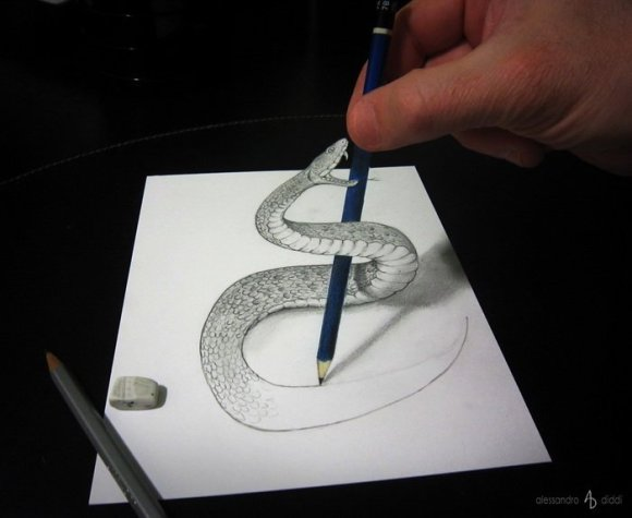 19 pencil drawings that trick your mind into thinking they're 3-D14