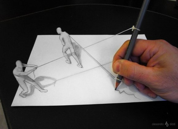 19 pencil drawings that trick your mind into thinking they're 3-D17