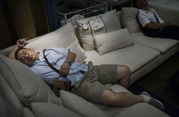 Bizarre photos of Chinese shoppers napping at Ikea9