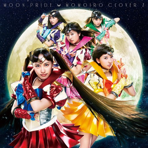 Momoiro Clover Z Cosplay on %22Moon Pride%22 CD Cover