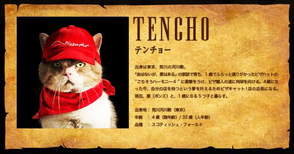Pizza Hut Pizza Cat campaign, Tencho