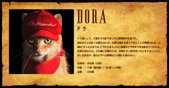 Pizza Hut Pizza Cat campaign, Dora