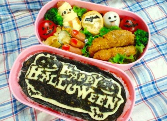 halloween character bento, charaben, kyaraben,