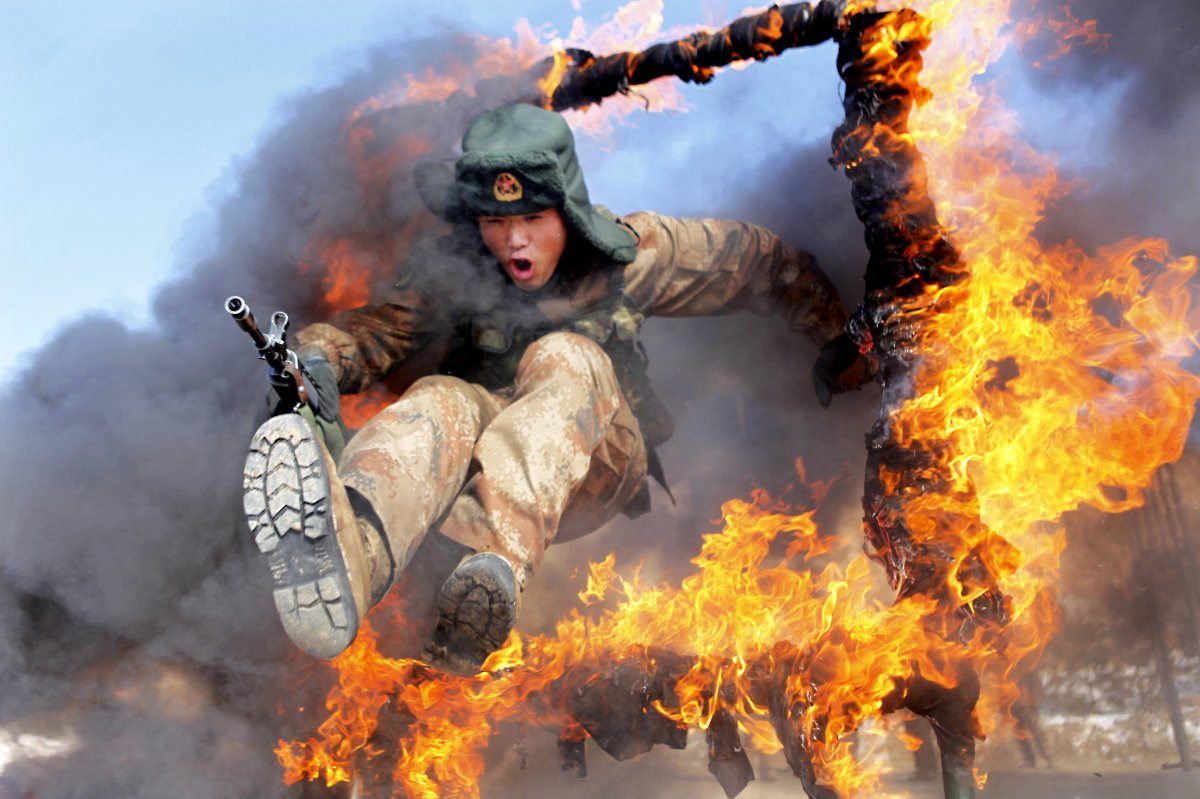 jumping-through-a-ring-of-fire-is-another-part-of-training