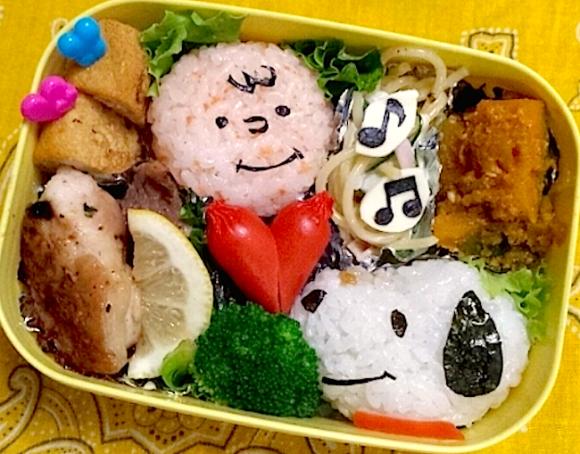 Charlie Brown and Snoopy, Peanuts Kyaraben charaben character bento, iyagarase, harassment bento, ttkk blog Kaori