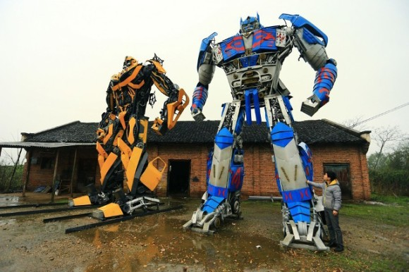 Transformers car parts in disguise