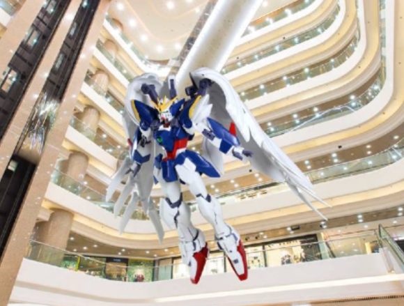 Gundam suspended