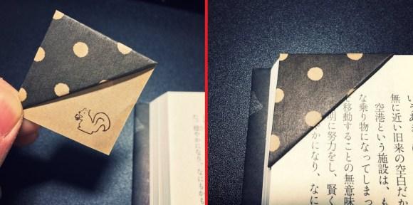 origami bookmark top
