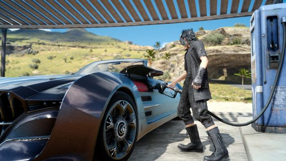 you-play-as-noctis-who-you-can-see-here-casually-re-fueling-his-futuristic-flying-car