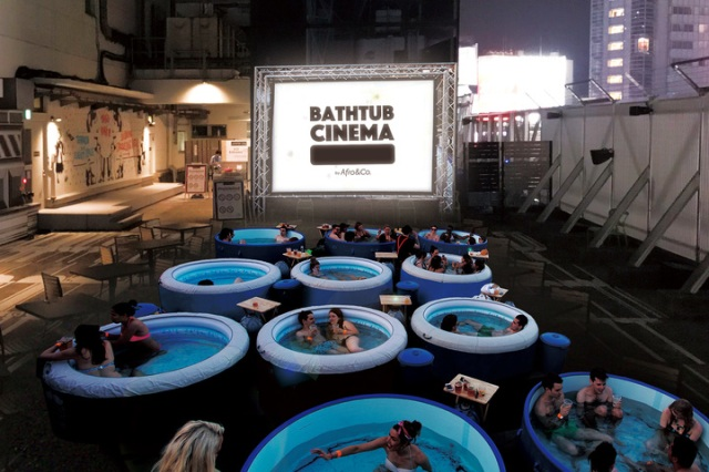 Bathtub Cinema On Shibuya Rooftop Is Tokyo S Coolest Stop For Outdoor Movies This Summer Soranews24 Japan News