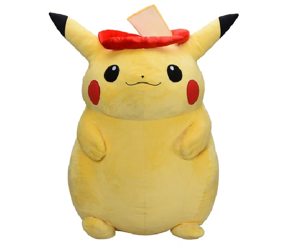 Pikachu Stuffed Animal Big, Huge Pikachu Plush Heavy Enough To Use As Exercise Weight Other Pokemon As Big As A Person Soranews24 Japan News
