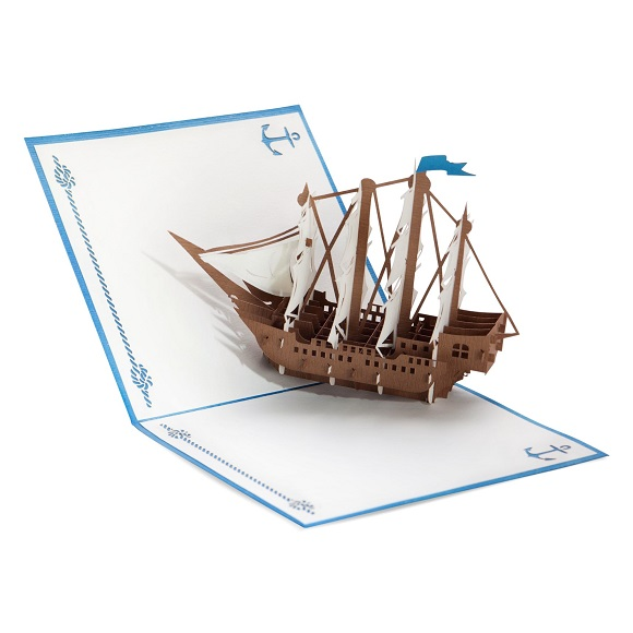 wooden_galleon-blue-paper_lovepop_popup_card-angle