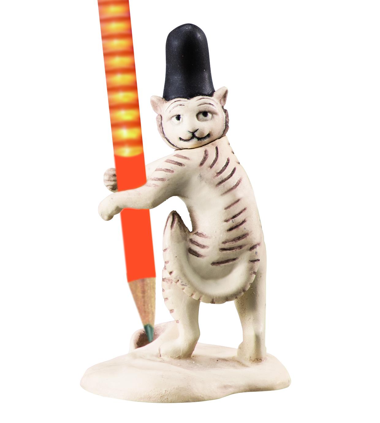 猫(鉛筆をささえる)